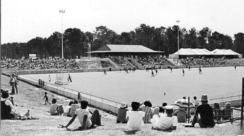 Hocket stadium at Curtin University 1979