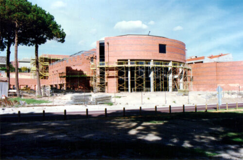 The John Curtin Centre being built in 1997