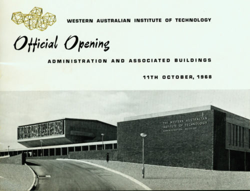 Official opening of administration building - Western Australian Institute of Technology 1968