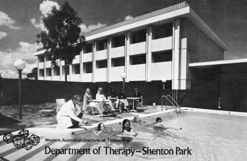 Hydrotherapy pool at Shenton Park campus, 1972