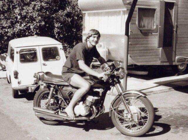 Bruce on bike