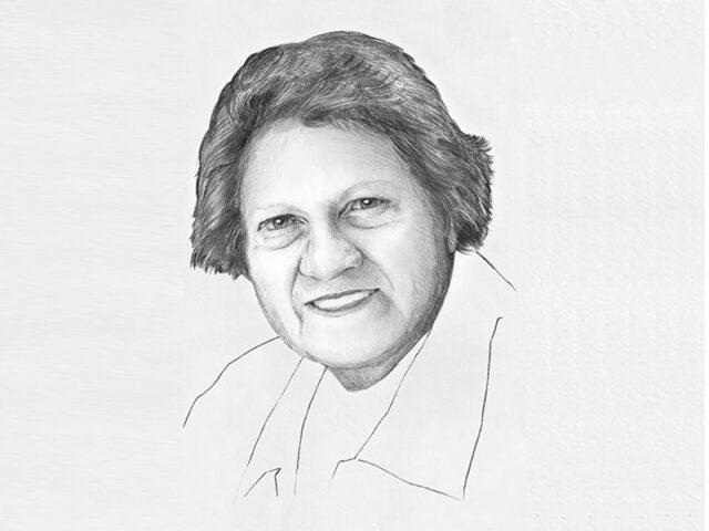 Sketch of Joan Winch